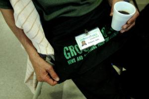 Robert Salo is a vendor for the Groundcover newspaper.  September 20, 2011.  (ALDEN REISS/Daily).